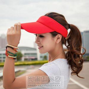 K031 หมวกตีกอล์ฟ หมวกปีกยาวเปิดครึ่งหัว หมวกกันแดด