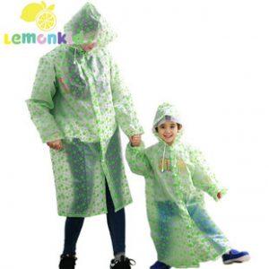 K070 เสื้อกันฝนผู้ใหญ่ Lemonkid ชุดคู่แม่ลูก