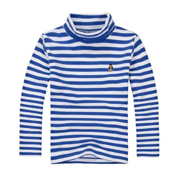 12241 เสื้อคอเต่าเด็ก ลายขวาง