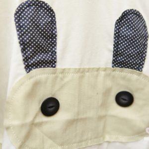 K1256 เสื้อยืดเด็กแขนปีกผีเสื้อ ลายกระต่าย Ann-Baby
