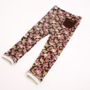 K13168 Legging เด็ก ผ้าคอตตอนนิตติ้งลายดอก