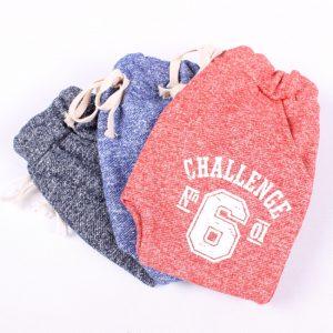 K13175 กาเกงขายาวเด็ก ผ้าทอ ลาย Chalenge No.6