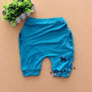 K13209 กางเกงขาสั้นเด็ก ทรงฮาเลม Blue Dog