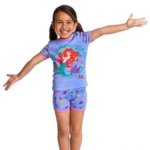 K16958 ชุดนอนเด็ก Disney จีน ลาย Ariel (ของจริงสีฟ้า)