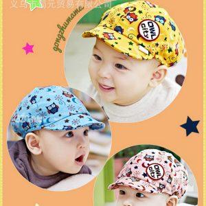 K21101 หมวกเด็กอ่อน ลายนกฮู้ก OWE CITY - GZMM