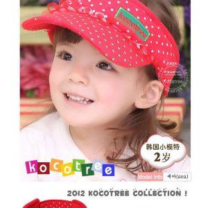 K21203 หมวกเด็กเปิดครึ่งหัว Kocotree ลายจุด