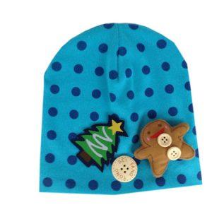K2191 หมวกเด็ก ตุ๊กตาคุ้กกี้เป็นแบบ 3D สำหรับเด็กเล็ก