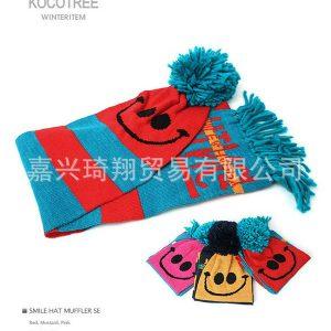 K2327 ผ้าพันคอเด็ก SMILE HAPPY ของแบรนด์ Kocotree