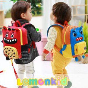 K2434 กระเป๋าเป้จูงเด็ก+กระเป๋าสะพายข้าง Lemonkid ลาย Monster