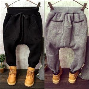 K13188 กางเกงกันหนาวเด็กผู้ชาย ผ้าสำลี ทรงก้นใหญ่