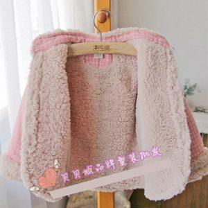 K19152 เสื้อกันหนาวเด็กเล็กลายตาราง ซับผ้าขนนุ่ม Baby City