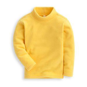 K19337 เสื้อคอสูง เสื้อคอเต่าเด็ก ผ้าสำลี เสื้อกันหนาวเด็ก พร้อมส่ง