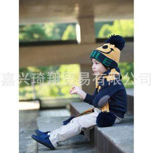 K21112 หมวกไหมพรมเด็ก รุ่นหนาสองชั้น ลาย SMILE แบรนด์ Kocotree