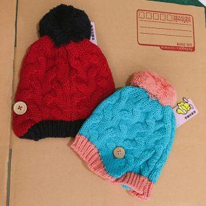 K21121 หมวกไหมพรมเด็กเล็ก พร้อมส่ง