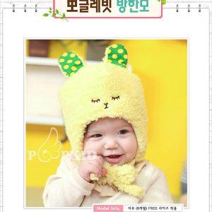 K21161 หมวกกันหนาวเด็กเล็ก ลายกระต่าย Gongzhu Mama