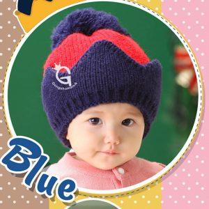 K21169 หมวกไหมพรมเด็กเล็ก ทรงเป็นมงกุฎ Guangzhu Mama (GZMM)