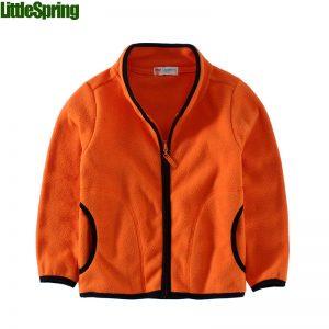 K19341 เสื้อกันหนาวเด็ก ผ้า Fleece สีพื้น พร้อมส่ง