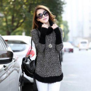 10685B เสื้อไหมพรมผู้ใหญ่ เสื้อกันหนาวแฟชั่นเกาหลี พร้อมส่ง