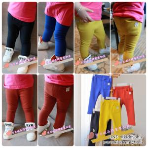 K13132-รุ่นผ้าบาง Legging เด็กเล็ก สีพื้น BabyCity