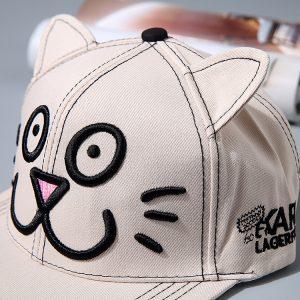 K21216 หมวกเด็ก หน้าแมวมีหู น่ารัก พร้อมส่ง