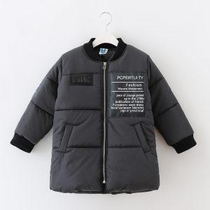 K19342 เสื้อโค้ทกันหนาวเด็ก เสื้อโค้ทตัวยาว ลุยหิมะ Hug Me