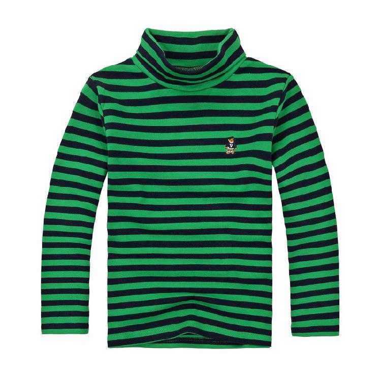 K12241 เสื้อคอเต่าเด็ก เสื้อลายขวาง เสื้อกันหนาวเด็ก