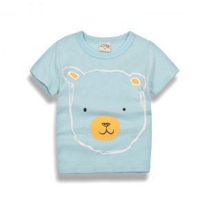 K12281 เสื้อยืดเด็ก เสื้อเด็ก เสื้อลายหมี เสื้อสีฟ้า Two&Seven