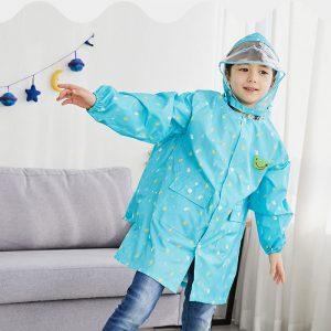 K1123 เสื้อกันฝนเด็กโต ลายดาวเดือน Lemonkid