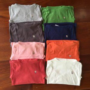 K12187 เสื้อคอเต่าเด็ก เสื้อสีพื้น ผ้านิ่ม