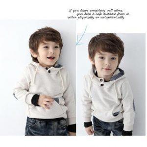 K19211 เสื้อกันหนาวเด็ก มีฮู้ด ผ้าสำลี