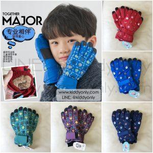 K265 ถุงมือกันหนาวเด็ก ถุงมือเล่นสกีเด็ก