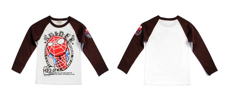 K164 เสื้อยืดแขนยาว ลายสไปเดอร์แมน แบรนด์ Two&Seven