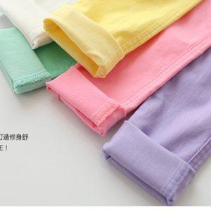 K13231 กางเกงเด็ก สกินนี่ สีสันสดใส