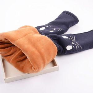 K13239 ลองจอนเด็กรุ่นหนาพิเศษ กางเกงกันหนาวเด็ก ลุยหิมะ
