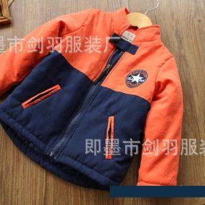 K19350 เสื้อกันหนาวเด็ก สีทูโทน ผ้านิ่ม น้ำหนักเบา